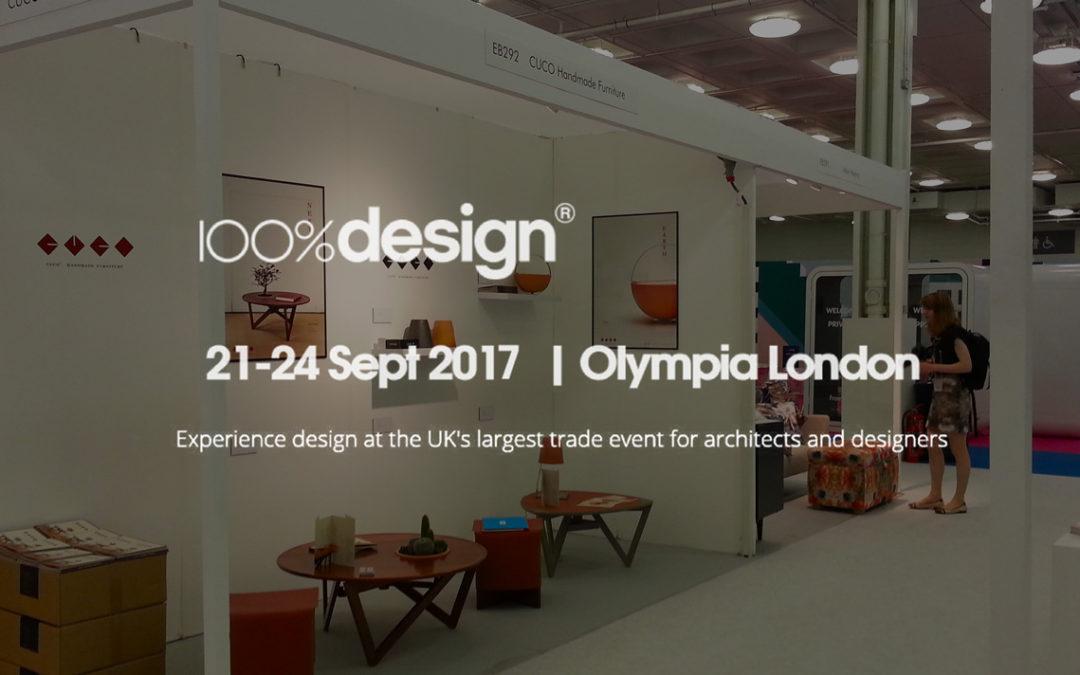 100%design. Olympia London September 2017